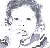 Portrait eines kleinen Mädchens, das etwas isst.