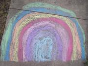 Bild einer Kreidezeichnung, das einen Tunnel andeutet.
